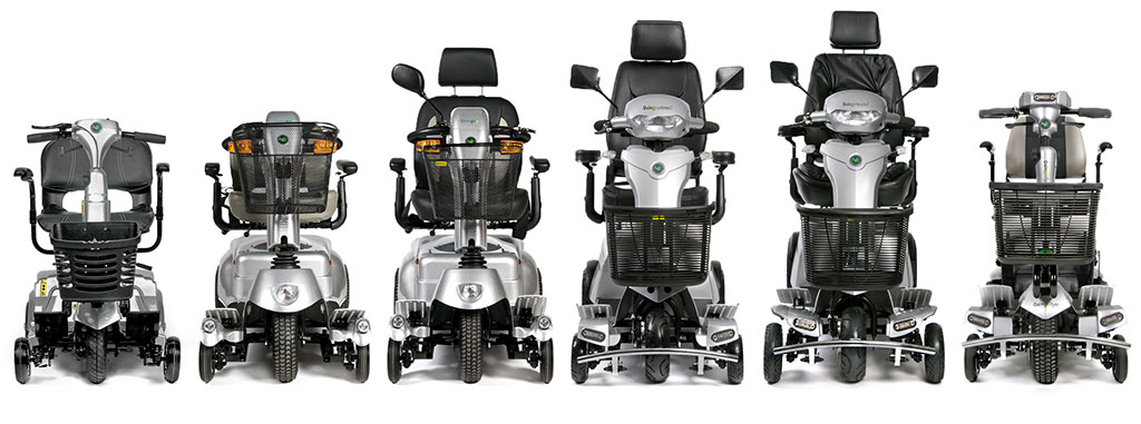 A range of mobility scooters covering all prices